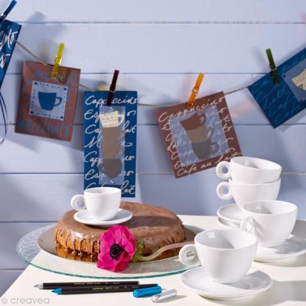 Feutre coloriage Edding 1200 Bleu métallisé 1-3 mm - Photo n°4
