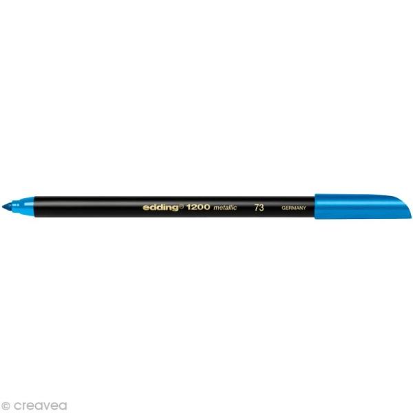 Feutre coloriage Edding 1200 Bleu métallisé 1-3 mm - Photo n°1