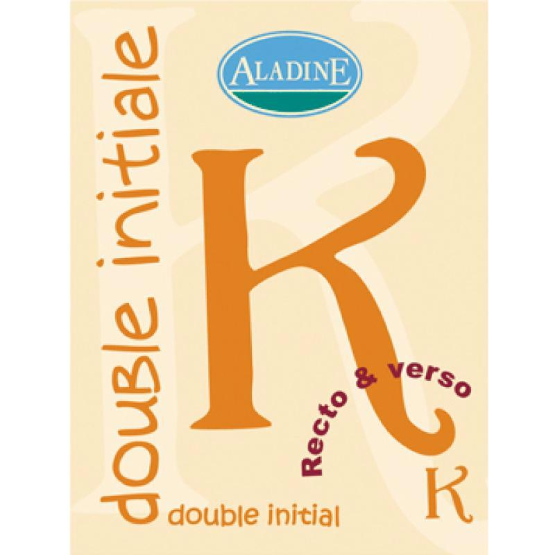 Cachet double initiale K 2 cm - Photo n°1