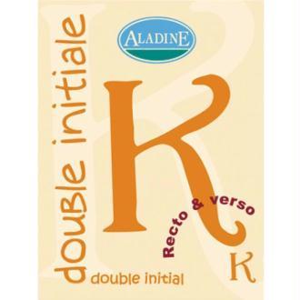Cachet double initiale K 2 cm