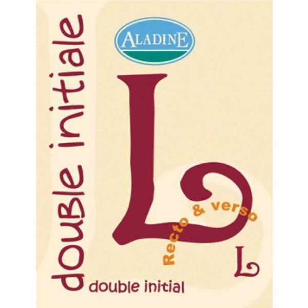 Cachet double initiale L 2 cm - Photo n°1