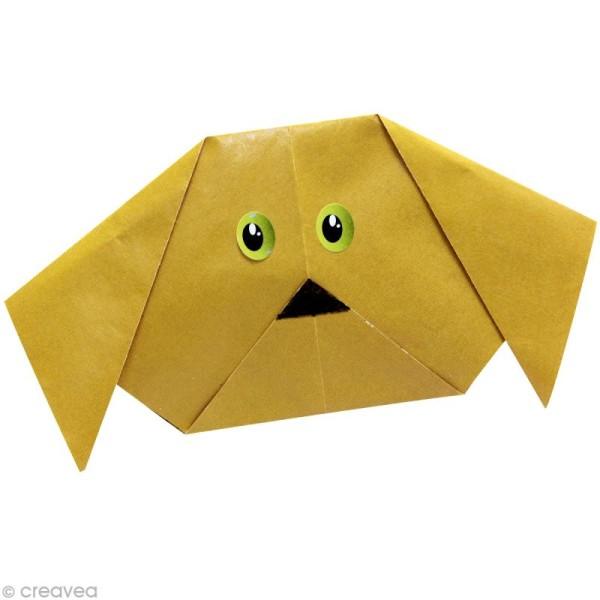 Origami color 12 x 12 cm - Orange x 20 - Photo n°2