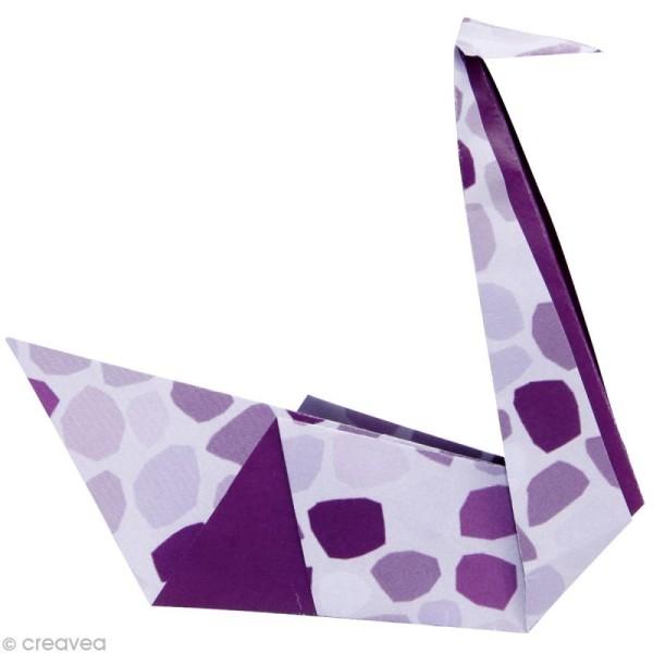 Origami color 12 x 12 cm - Violet x 20 - Photo n°2