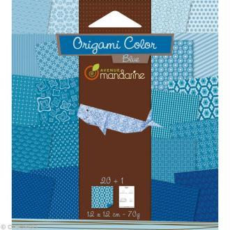 Origami color 12 x 12 cm - Bleu x 20