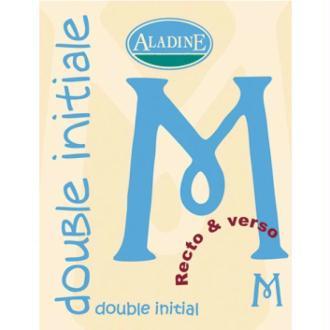 Cachet double initiale M 2 cm