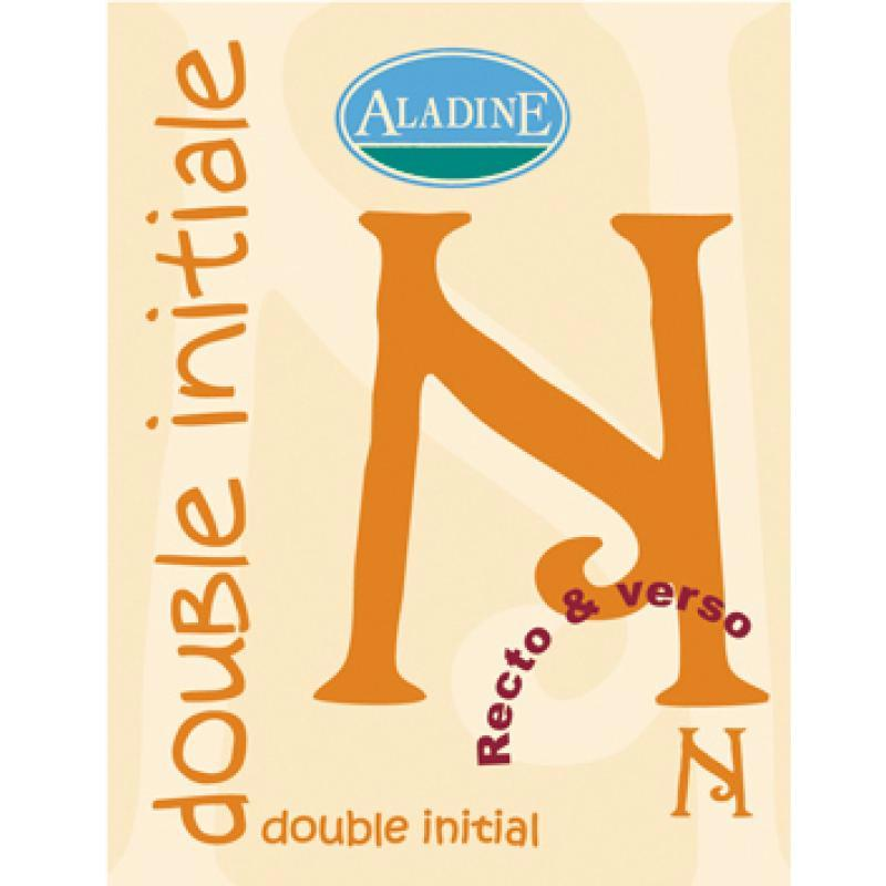 Cachet double initiale N 2 cm - Photo n°1