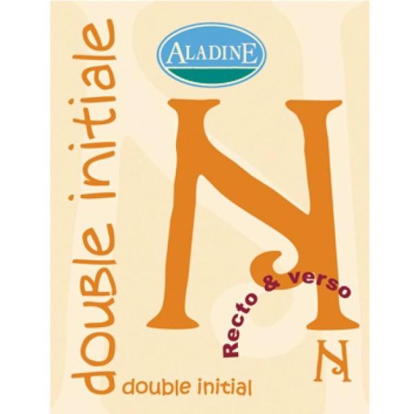 Cachet double initiale N 2 cm - Photo n°1