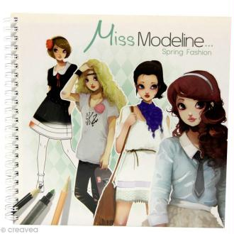 Cahier de stylisme Miss Modeline - Printemps