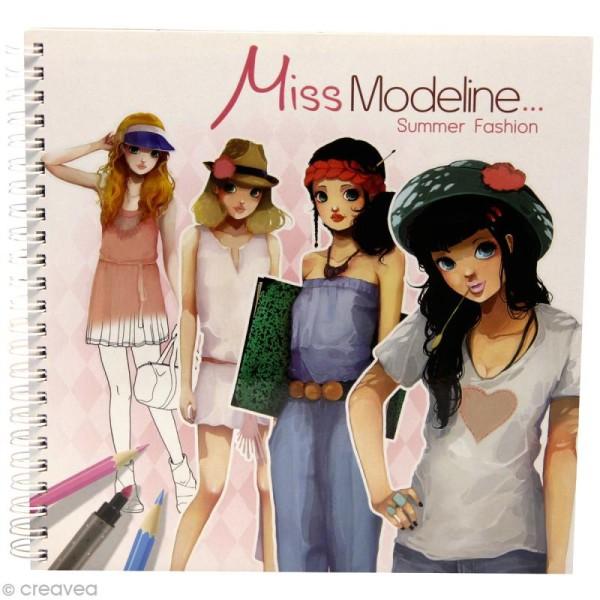Cahier de stylisme Miss Modeline - Eté - Photo n°1