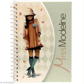 Carnet de stylisme A6 - Miss Modeline - Leila