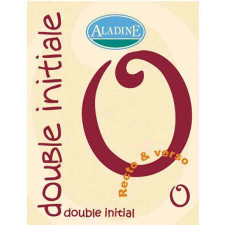 Cachet double initiale O 2 cm - Photo n°1