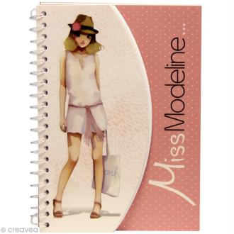 Carnet de stylisme A6 - Miss Modeline - Clémentine