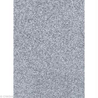 Papier pailleté Argent Scrapbooking - 20 x 29,5 cm