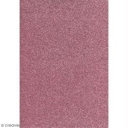 Papier pailleté Rose Scrapbooking - 20 x 29,5 cm