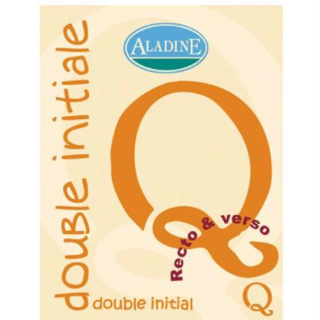 Cachet double initiale Q 2 cm - Photo n°1