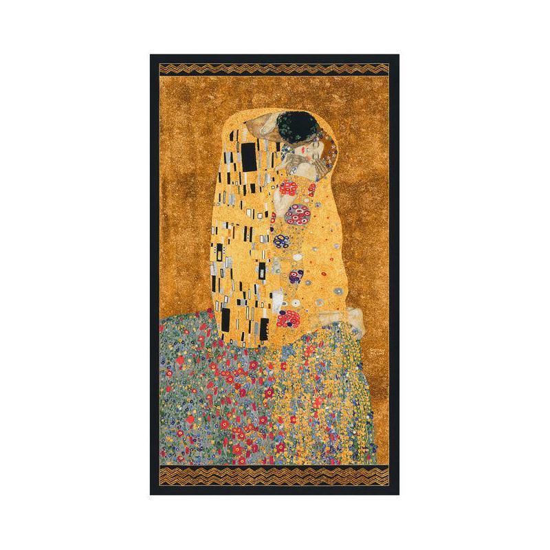 Panneau de tissu le baiser gustav klimt coupon de tissus for Panneau de bois exterieur pas cher