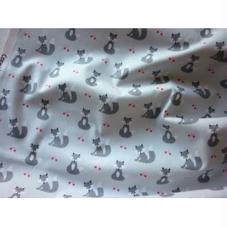 Tissu coton scandinave gris renard Oeko-Tex - 25 X 110 cm à la coupe