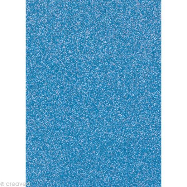 Papier pailleté Bleu clair Scrapbooking - 20 x 29,5 cm - Photo n°1