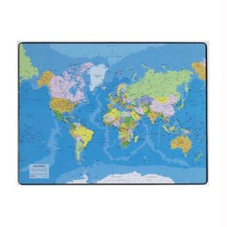 Sous-mains en plastique Carte du monde 530 x 400mm