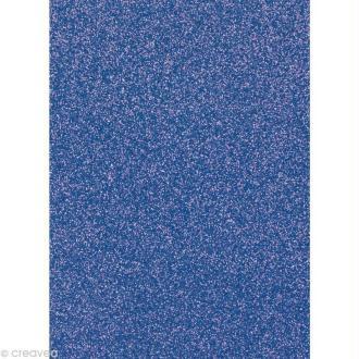Papier pailleté Bleu foncé Scrapbooking - 20 x 29,5 cm