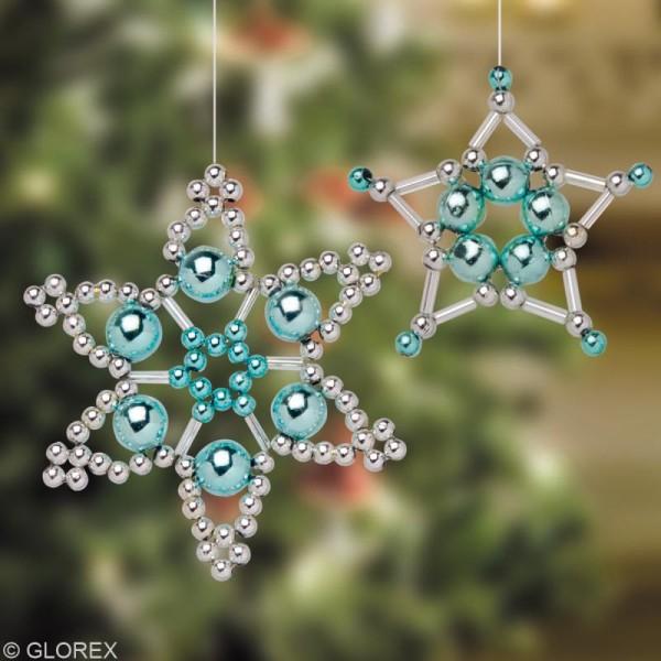 Perles de décoration Blanc 10 mm - env 140 pcs - Photo n°3