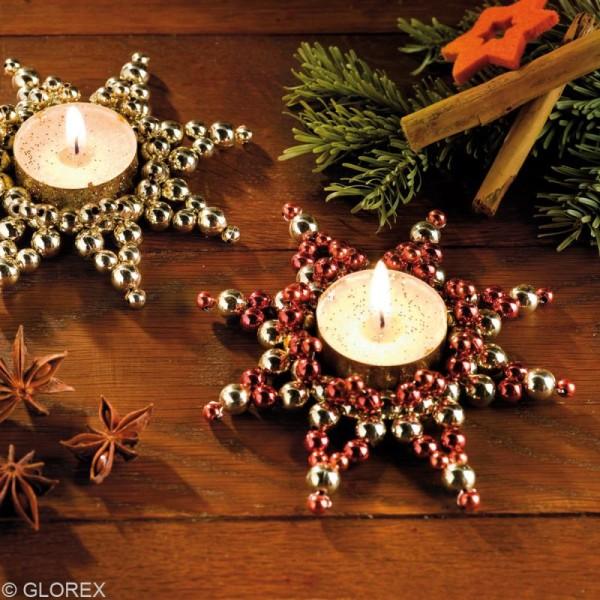 Perles de décoration Blanc 10 mm - env 140 pcs - Photo n°4