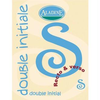 Cachet double initiale S 2 cm