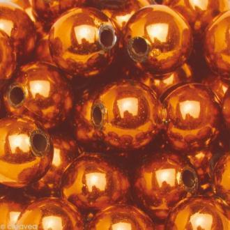 Perles de décoration Orange/rouge 10 mm - env 140 pcs