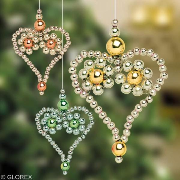 Perles de décoration Rouge 10 mm - env 140 pcs - Photo n°4