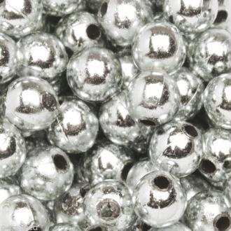 Perles de décoration Argent 6 mm - env 650 pcs