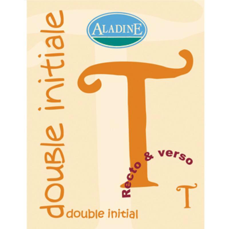 Cachet double initiale T 2 cm - Photo n°1