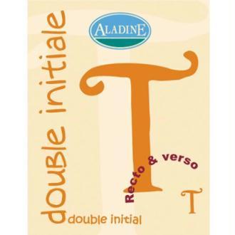 Cachet double initiale T 2 cm