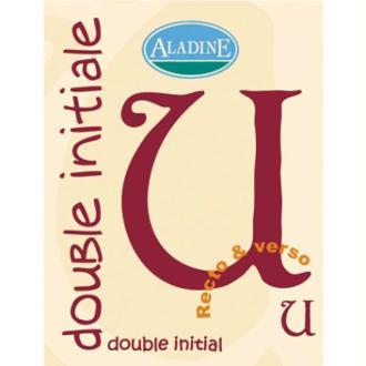 Cachet double initiale U 2 cm