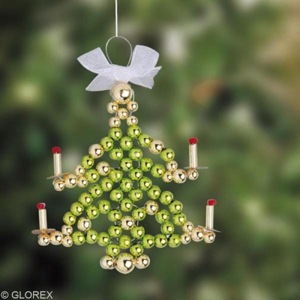 Perles de décoration Vert 6 mm - env 650 pcs - Photo n°6