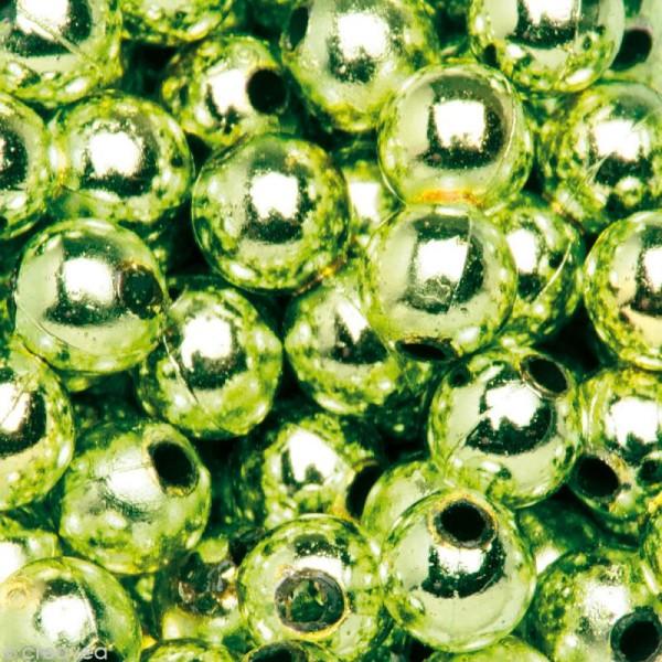 Perles de décoration Vert 6 mm - env 650 pcs - Photo n°1