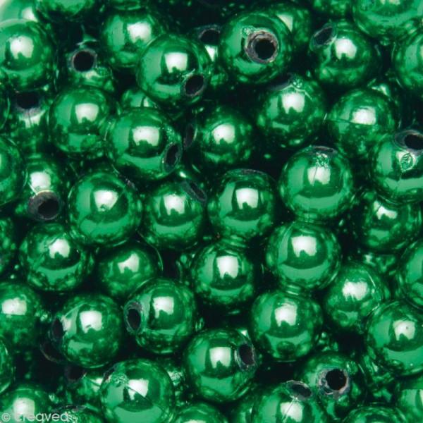 Perles de décoration Vert foncé 6 mm - env 650 pcs - Photo n°1