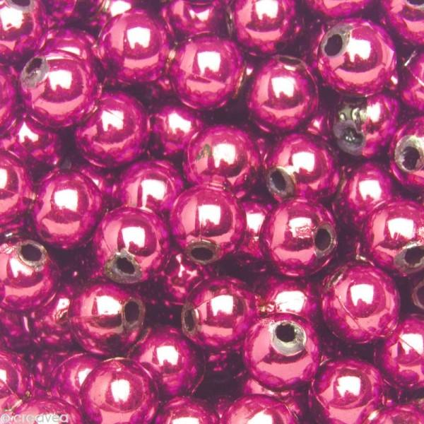 Perles de décoration Violet 6 mm - env 650 pcs - Photo n°1