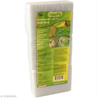 Savon de glycérine écologique Opaque à l'Aloe Vera - 1500 g