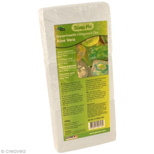 Savon de glycérine écologique Transparent à l'Aloe Vera - 1500 g - Photo n°1