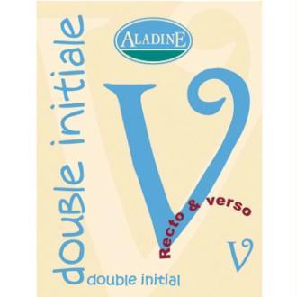 Cachet double initiale V 2 cm