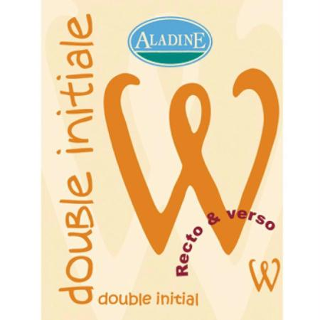 Cachet double initiale W 2 cm - Photo n°1