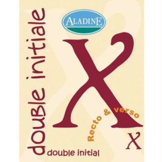 Cachet double initiale X 2 cm