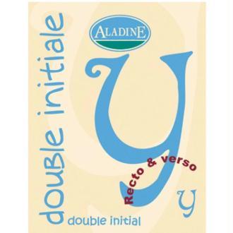 Cachet double initiale Y 2 cm