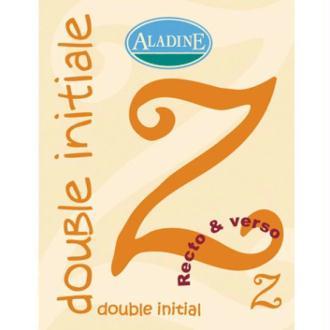 Cachet double initiale Z 2 cm