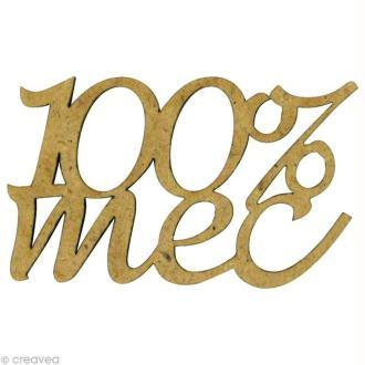 Forme en bois Mot - 100% mec 4 x 2,5 cm