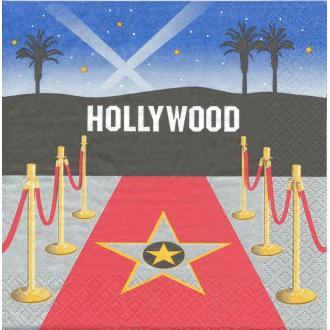 4 Serviettes en papier Hollywood Cinéma Format Lunch