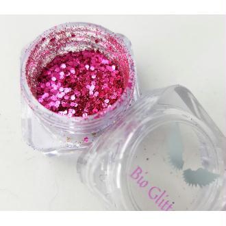 Bio Glitter Rose paillettes cosmétique biodégradables