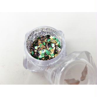 Bio Glitter Mix Fée paillettes cosmétique biodégradables