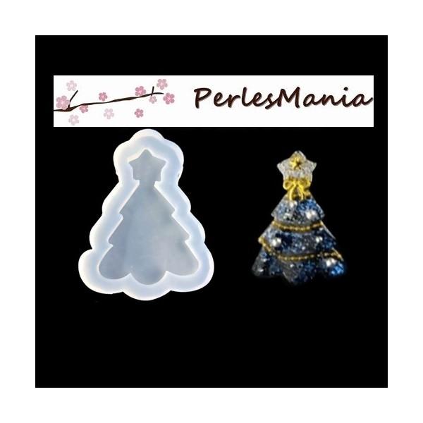 1 pendentif MOULE EN SILICONE Arbre de Noel pour resine fimo ( S1196078 ) - Photo n°1