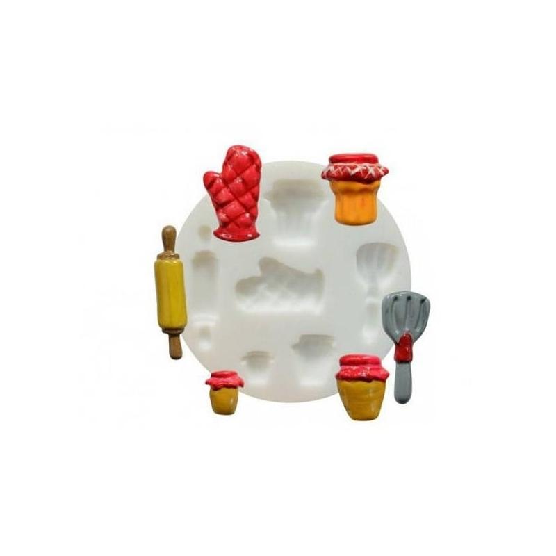 1 mini moule en silicone cuisine fimo sculpey cernit dtm for Agencement cuisine en l